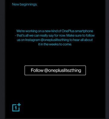 The @OnePlusLiteZThing account on Instagram begins the teaser campaign