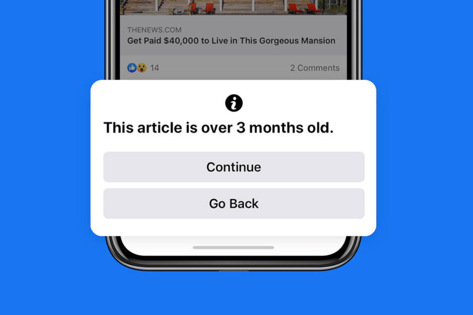 Facebook rolling out new notification screen for old news articles