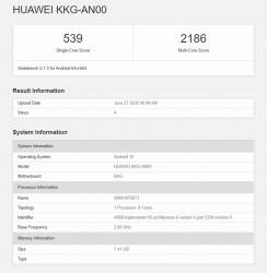 Honor X10 Max 5G at GeekBench