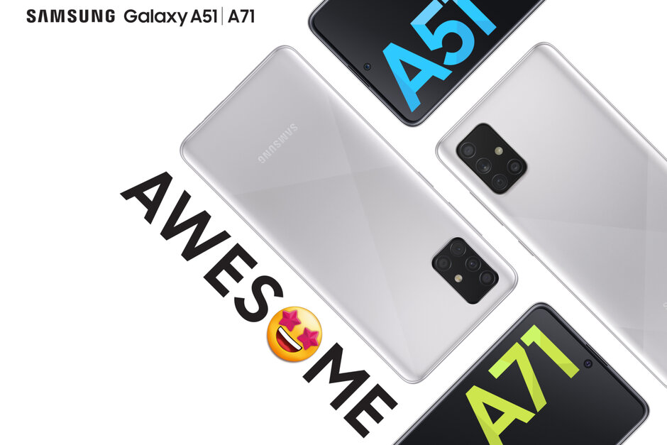 Samsung Galaxy A51 and A71 now available in Haze Crush Silver color