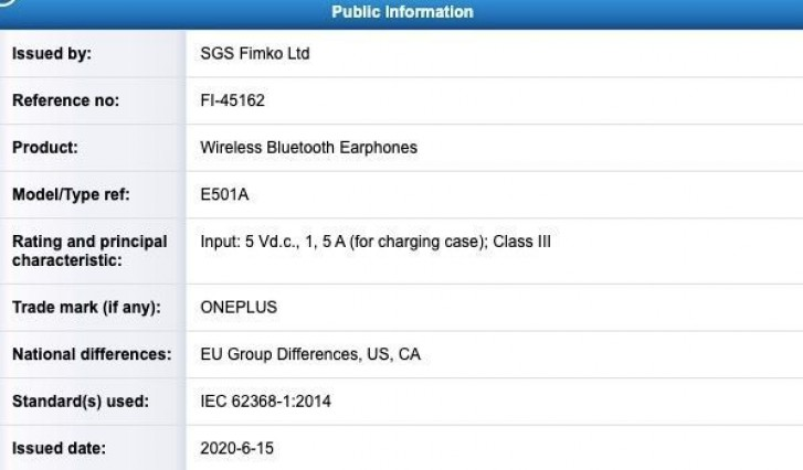 OnePlus Buds certified in Finland, expected alongside OnePlus Nord on July 21