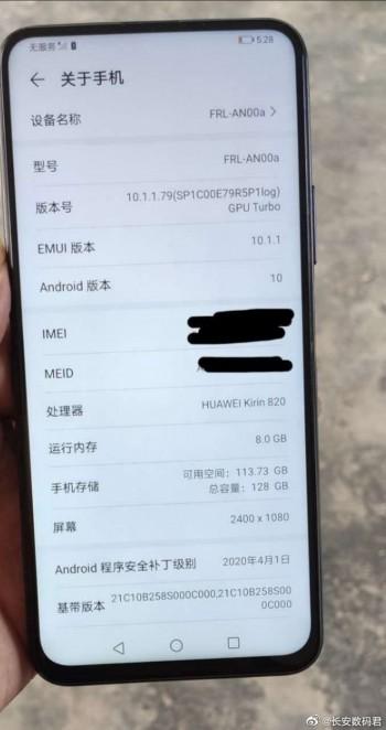 Huawei Enjoy 20 appears in live image, key specs revealed