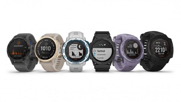Garmin updates Fenix 6, Instinct and Tactix Delta smartwatches with solar charging