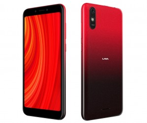 Lava Z61 Pro in Amber Red