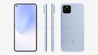 Alleged leaked renders of Pixel 5 XL