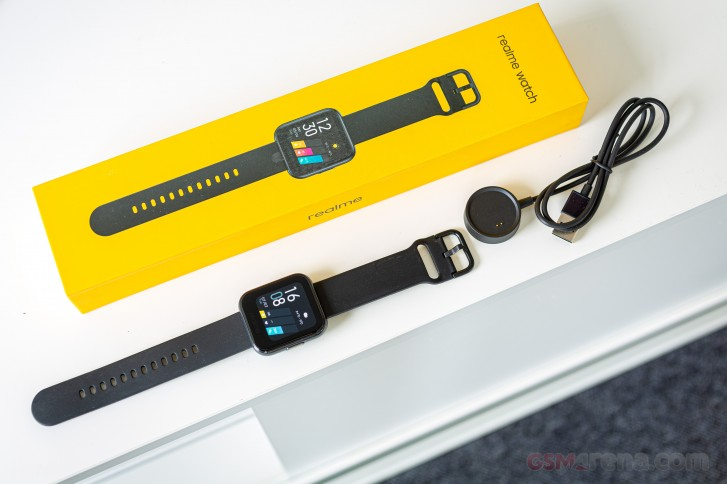 Realme Watch with its circular charger