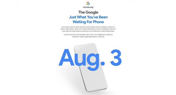 Google confirms Pixel 4a reveal coming on August 3