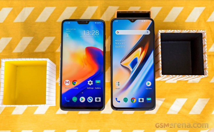 OnePlus 6 (left) and OnePlus 6T (right)