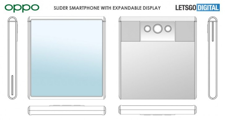 Oppo patents slider phone with extendable display
