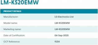 LM-K520EMW on GCF's website