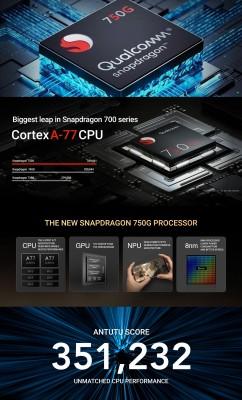 Xiaomi Mi 10i 5G: Snapdragon 750G chipset