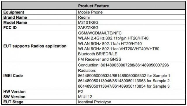 Redmi Note 10 Pro FCC listing
