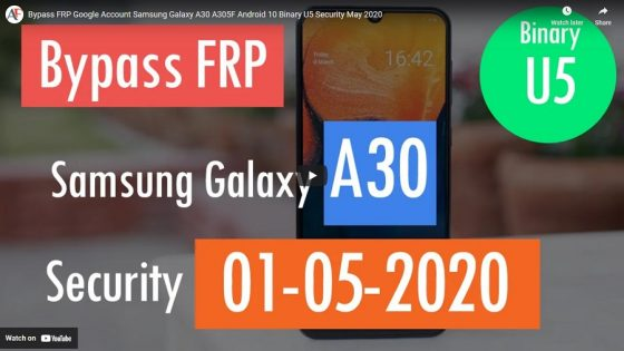 FRP Google Account Samsung Galaxy A30