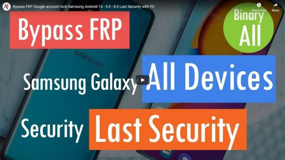 Bypass FRP Google account lock Samsung Android 10 - 9.0 - 8.0 Last Security with PC